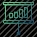 chart, forecasting, presentation, sale, strategy icon