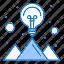 creative, idea, mountain, solution, strategy