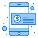 coin, dollar, mobile, money, payment