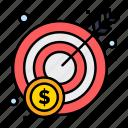 money, profit, target