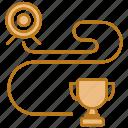 goal, long, planning, range, seo, target, winner icon