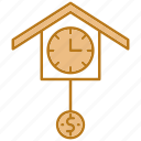 business, clock, money, time icon