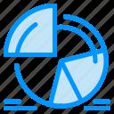 analytics, chart, pie, statistics icon