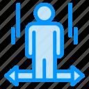 arrow, left, man, right, user icon