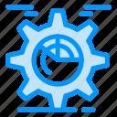 chart, cog, gear, seo, setting icon