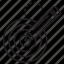 dart, pen, pencil, target icon