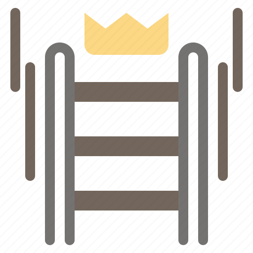 business, crown, ladder, success, tool icon