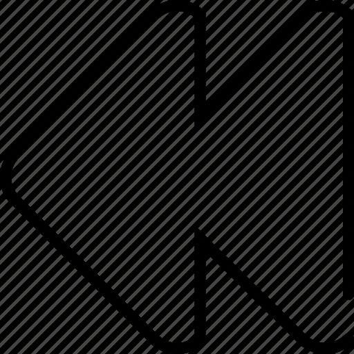 arrow, back, backward, begin, direction, move, previous icon