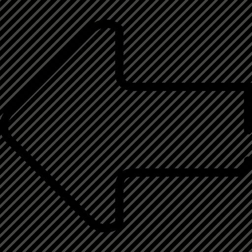 arrow, arrows, back, direction, left, move, previous icon