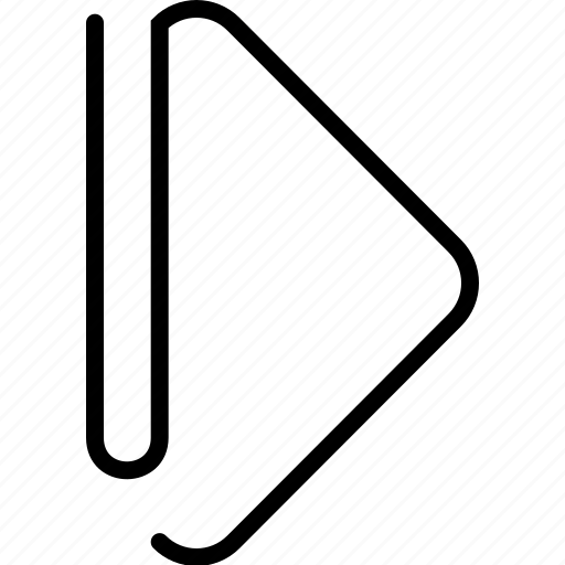 arrow, direction, forward, go, next, play, right icon