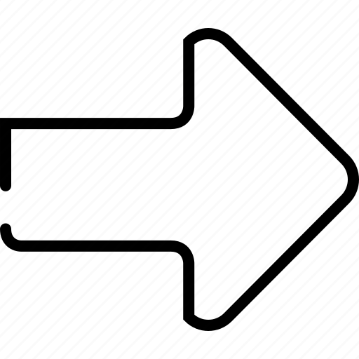 arrow, direction, forward, go, move, next, right icon