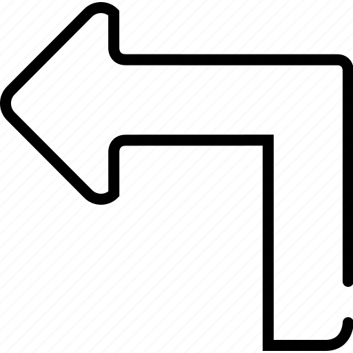 arrow, back, backward, left, previous, turn icon