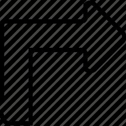 arrow, forward, next, right, top icon