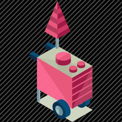 cart, dessert, element, food, street icon