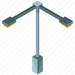 double, light, lights, road, street icon