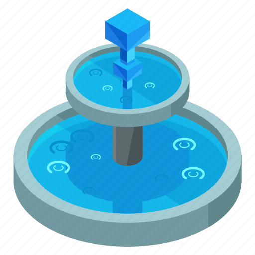 elements, fountain, park, street, water icon
