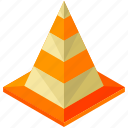 cone, element, maintenance, road, street icon