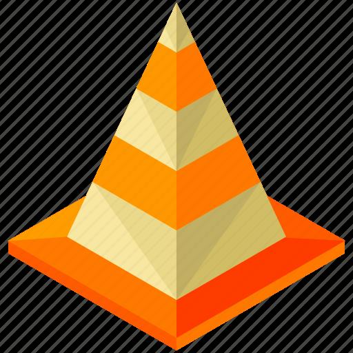 cone, element, maintenance, road, street icon