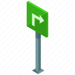 arrow, elements, road, sign, street, turn icon