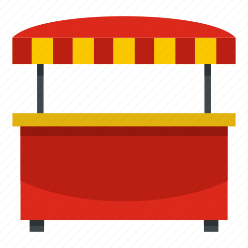fast, food, roof, shop, snack, street, striped icon