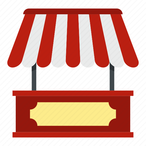 food, mobile, roof, shop, snack, street, striped icon