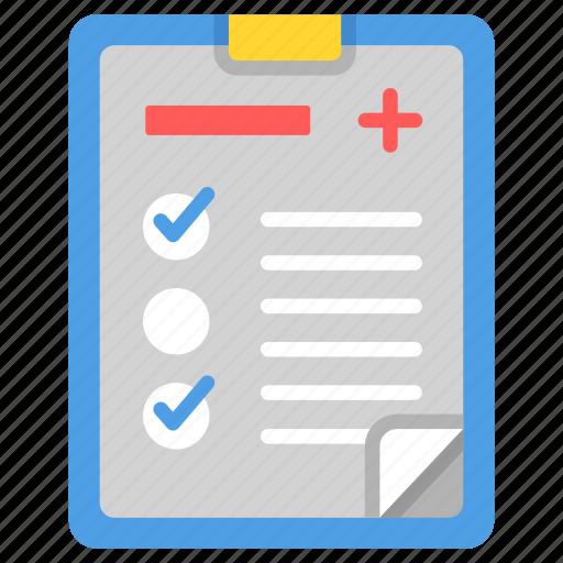 diagnosis, healthcare, medical, medicine, patient, report icon
