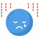 depression, disappoint, disappointed, sad, sorrow, tired, upset icon