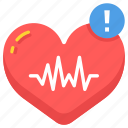 cardiogram, heart, heartbeat, high, intensive, performance, rate icon
