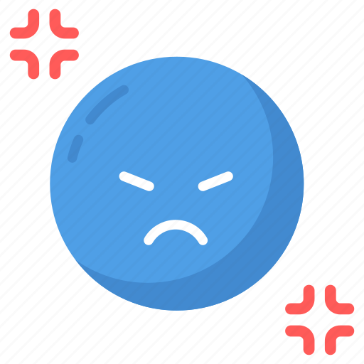 angry, annoyed, frustration, mental, nervous, stress, upset icon