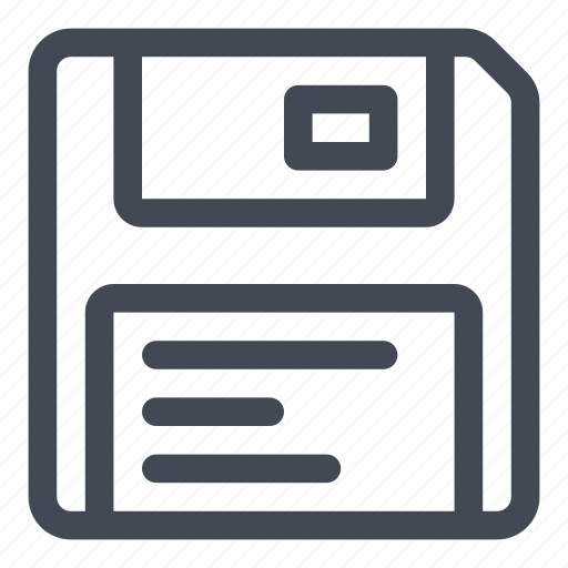 data, disk, floppy, media, multimedia, storage icon