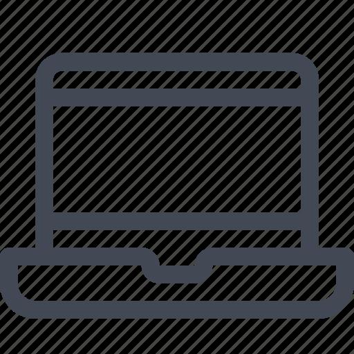 computer, device, laptop, macbook, notebook, portable, screen icon