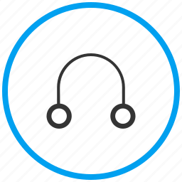 earphones, handsfree, headphone, headset, help support, media, music icon