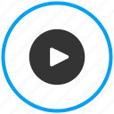 audio play, play, video icon