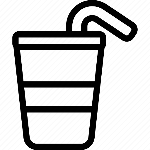 beverage, drink, glass, juice, straw, water icon