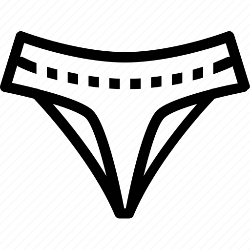 fashion, underware icon