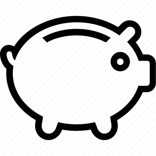 business, commerce, currency, deposit, money, payment, pig icon