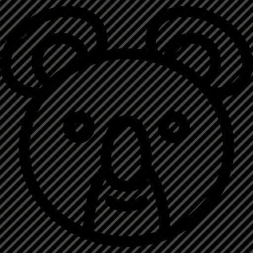 animal, animals, avatar, cute, face, head, koala icon