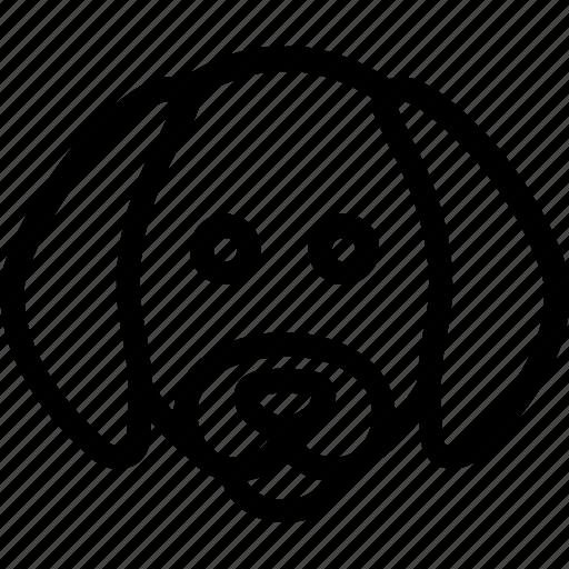animal, dog, face, head, loyal, pet icon