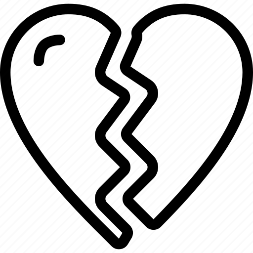 broken, heart, love, relationship, romantic icon