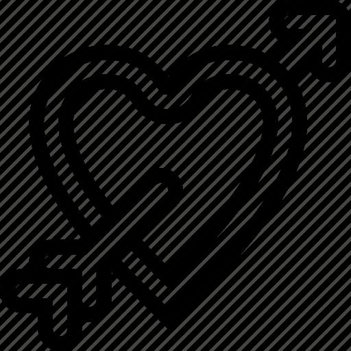 dart, favorite, heart, love, relationship, romantic icon
