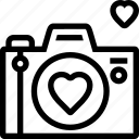 camera, favorite, heart, love, photo, photography icon
