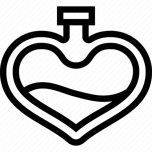 gift, heart, love, parfume, romantic, valentine icon