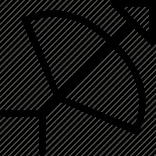 arrow, bow, dart, shaft icon