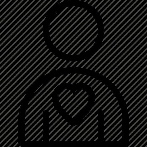 heart, love, male, man, user icon