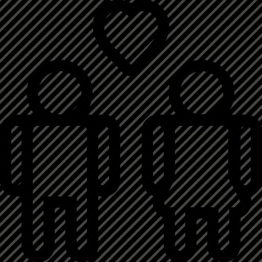 heart, love, man, people, woman icon
