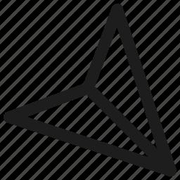 arrow, direction, location, position icon