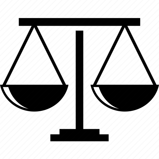 fair, justice, law, scale of justice icon