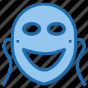 entertainment, face, film, mask, movie, studio icon