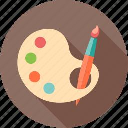 art, creative, design, drawing, painting, school, study icon