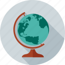 earth, global, map, navigation, student, study, world icon